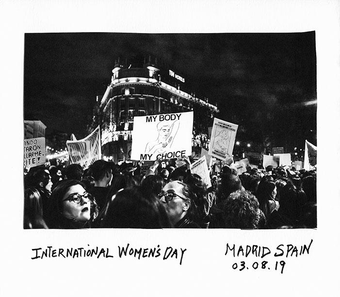 Donna Ferrato. International Women's Day's March. Madrid. 03.08.2019 © Donna Ferrato