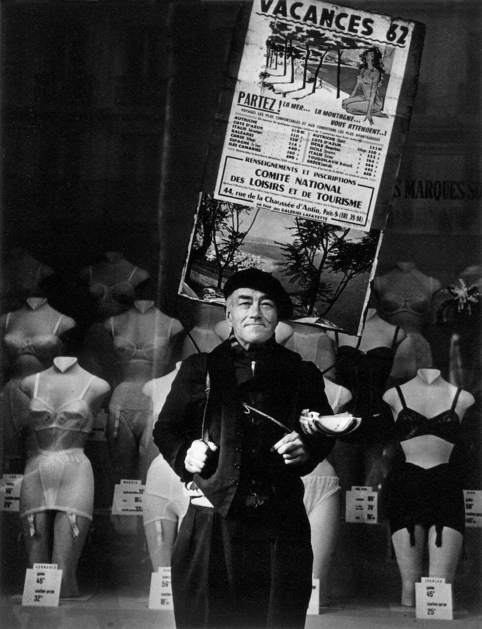 Gerardo Vielba. Hombre anuncio. París, 1962 © Archivo familia Vielba