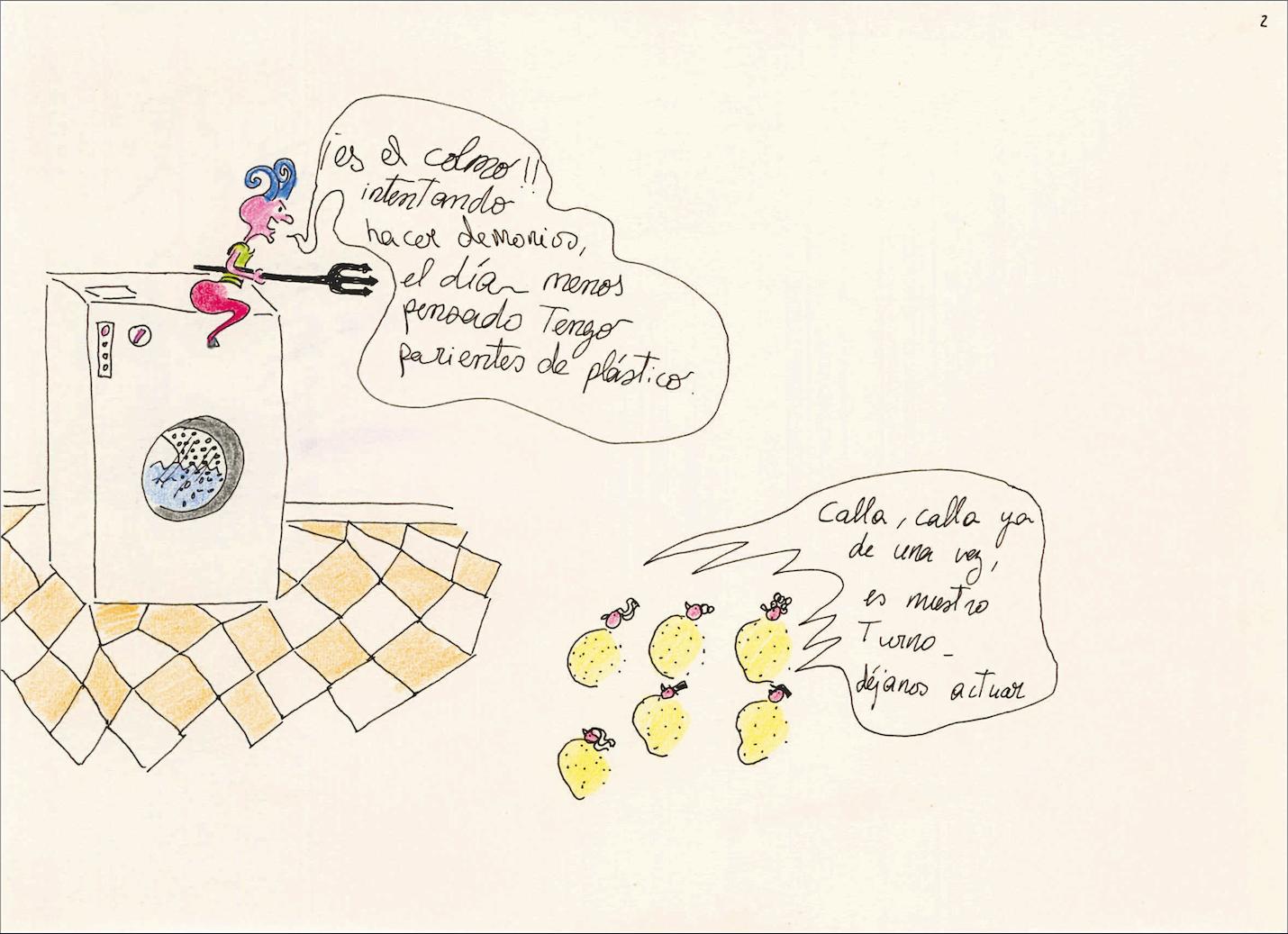 Ouka Leele.Cómics y dibujos antes de Ouka Leele [historieta 2, p. 3 de 13] s. a. © Ouka Leele. VEGAP, Madrid, 2021