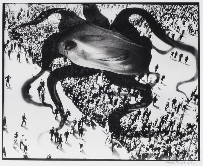 Barbara Morgan. Hearst sobre la gente. Fotomontaje, 1938-1939 © Barbara Morgan