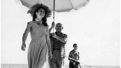 Robert Capa. Picasso y Francoise gilot, 1948 © Robert Capa